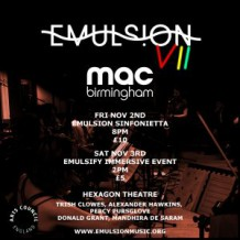 Emulsion Festival VII, Day One, Hexagon Theatre, Midlands Arts Centre, Birmingham, 02/11/2018.